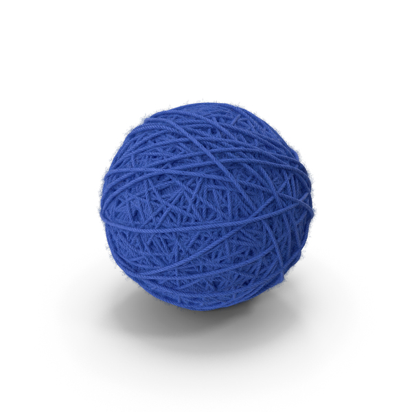 Blue Wool Yarn Ball PNG & PSD Images