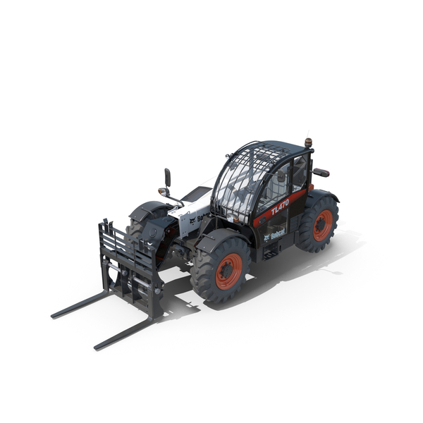 Bobcat TL470 Telescopic Handler Rigged PNG & PSD Images