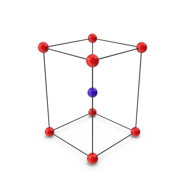Molecule: Body Centered  Tetragonal Crystal Lattice Structure PNG & PSD Images