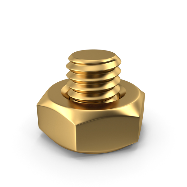 Bolt with Nut Gold PNG & PSD Images