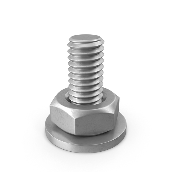 Bolt with Washer and Nut PNG & PSD Images