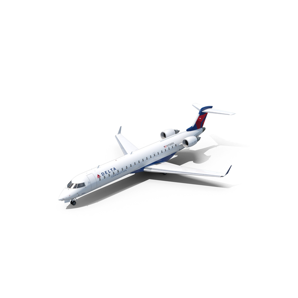 Airliner: Bombardier CRJ700 Delta Connection PNG & PSD Images