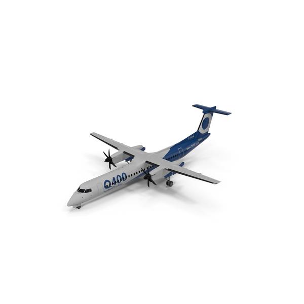 Bombardier Q400 NextGen Passenger Airplane PNG & PSD Images
