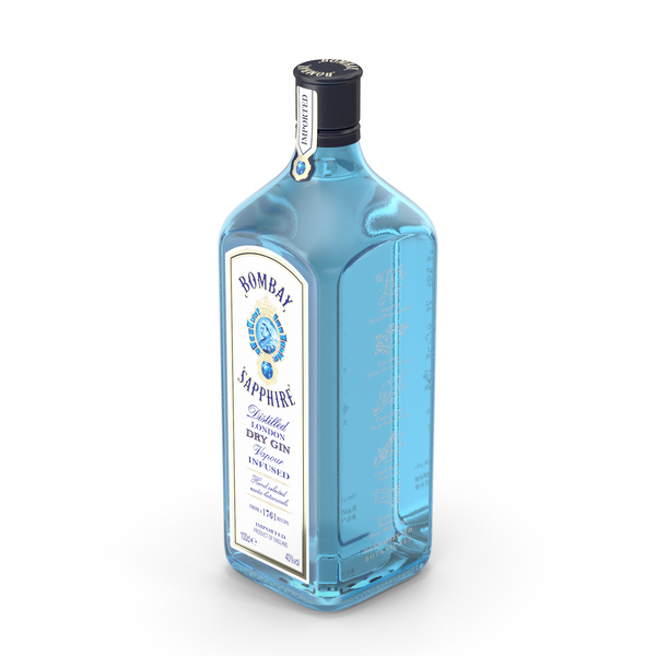 Bombay Sapphire Gin 1 Litre Bottle PNG & PSD Images