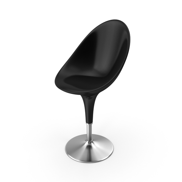 Bombo Chair Black PNG & PSD Images