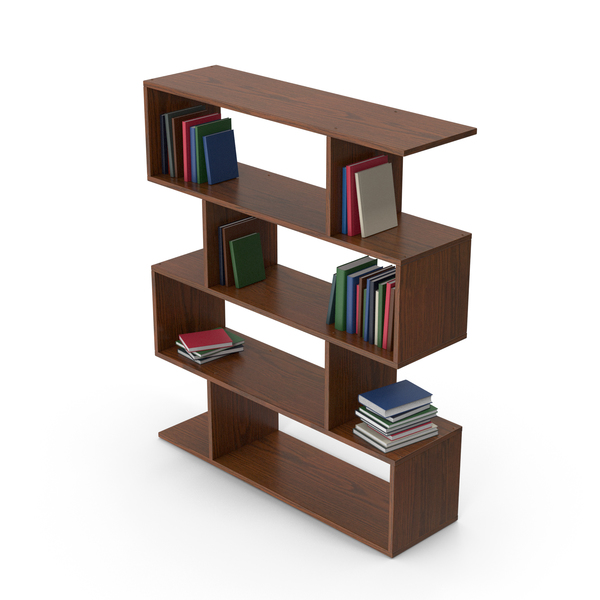 Bookcase: Book Case With Books PNG & PSD Images