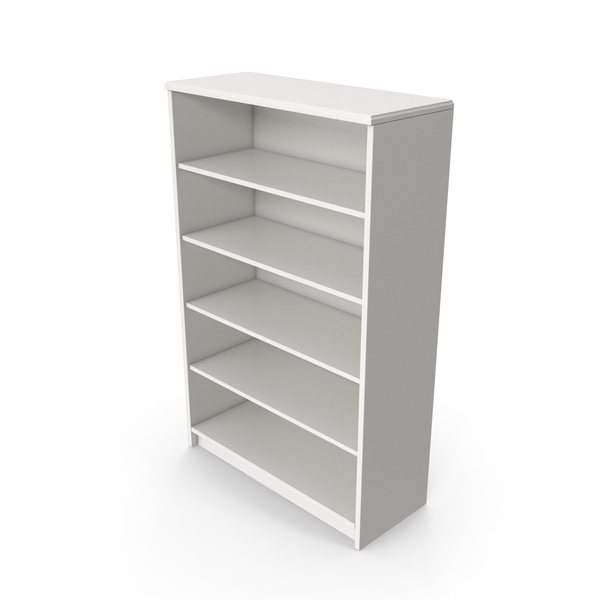 Bookcase: Book Shelf White PNG & PSD Images