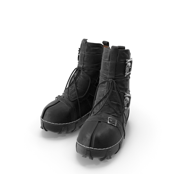 Boots Gothic Black PNG & PSD Images