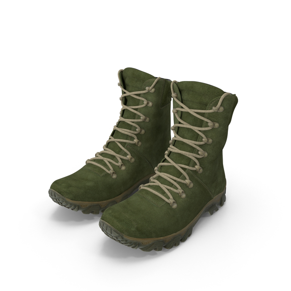 Boots Military Green PNG & PSD Images