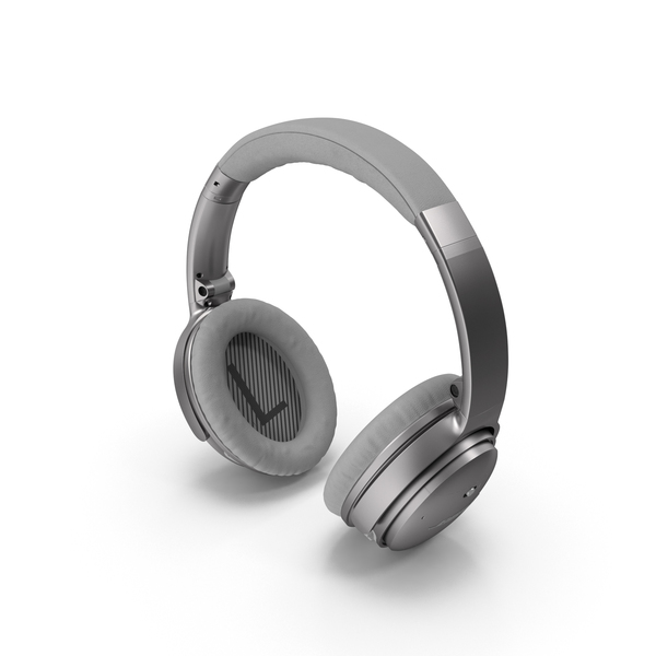 Bose Headphones Silver PNG & PSD Images