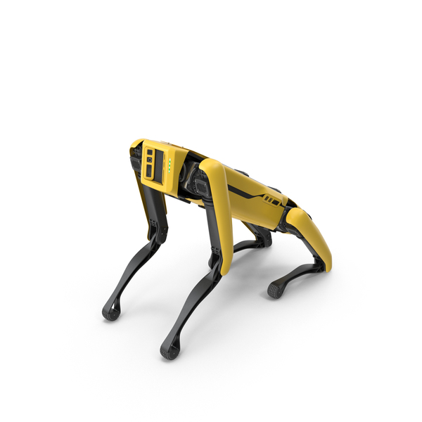 Boston Dynamics Spot Robot Dog Sitting PNG & PSD Images