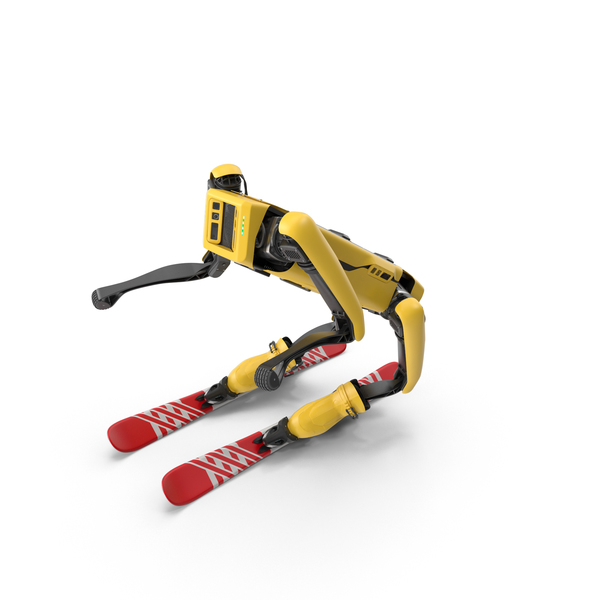 Boston Dynamics Spot Robot Skiing PNG & PSD Images