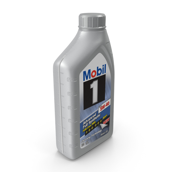 Bottle 1L Motor Oil Mobil PNG & PSD Images