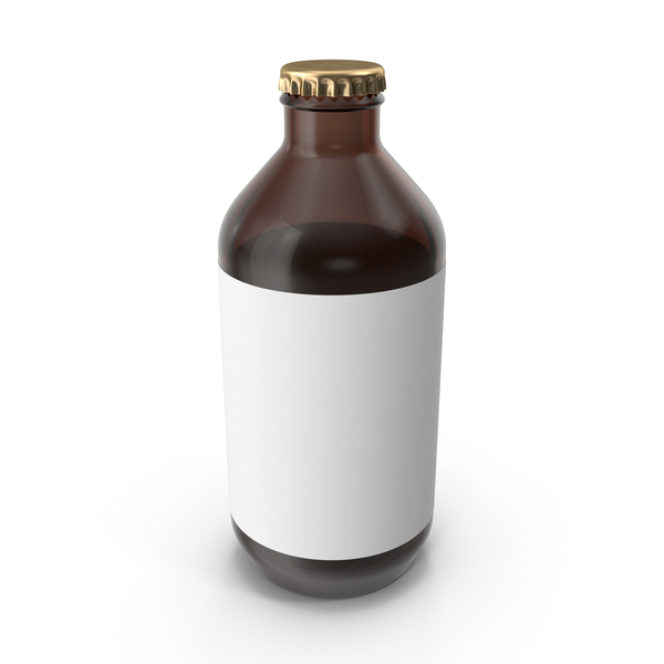 Bottle of Beer with Sticker PNG & PSD Images