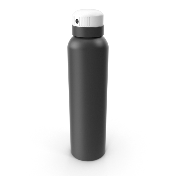 Aerosol Can: Bottle Spray Black PNG & PSD Images