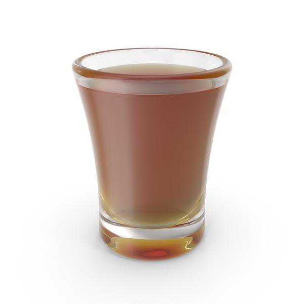 Glass: Bourbon Shot PNG & PSD Images