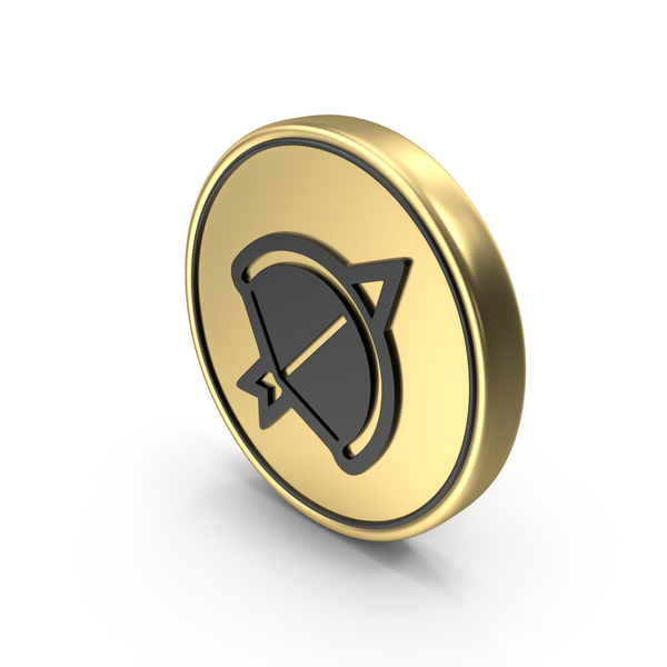 Bow Arrow Game Coin Logo Icon PNG & PSD Images