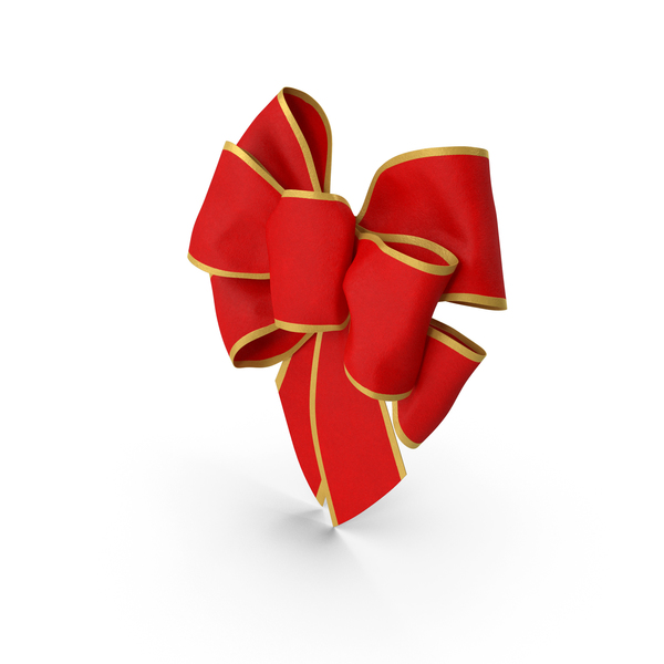 Bow with Gold Trim PNG & PSD Images