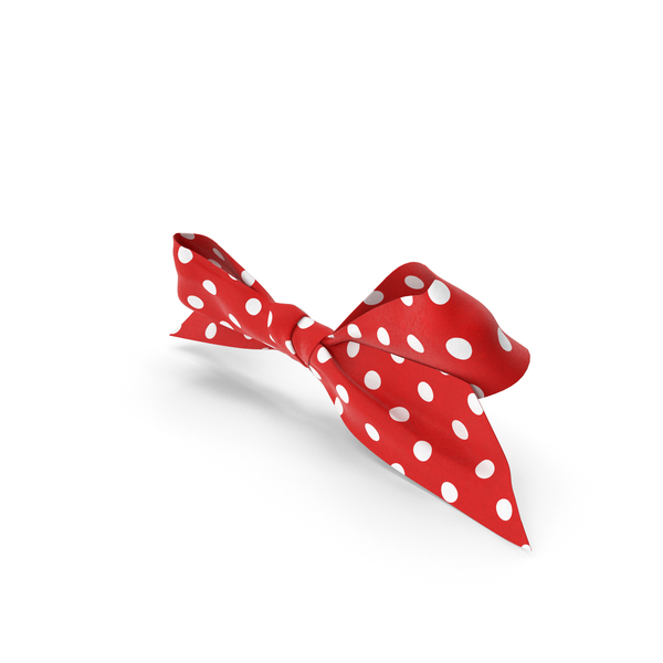 Gift: Bow with White Dot Pattern PNG & PSD Images