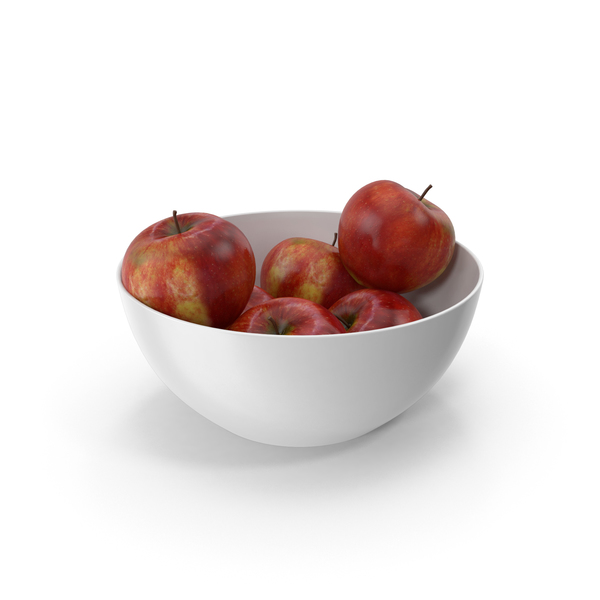 Apple: Bowl of Red Apples PNG & PSD Images