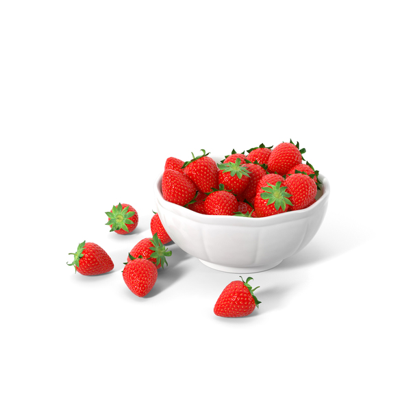 Bowl Of Strawberries PNG & PSD Images