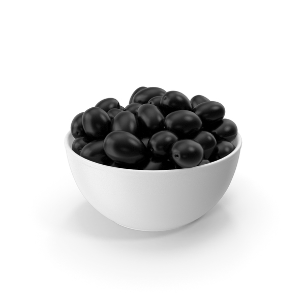 Bowl With Black Olives PNG & PSD Images