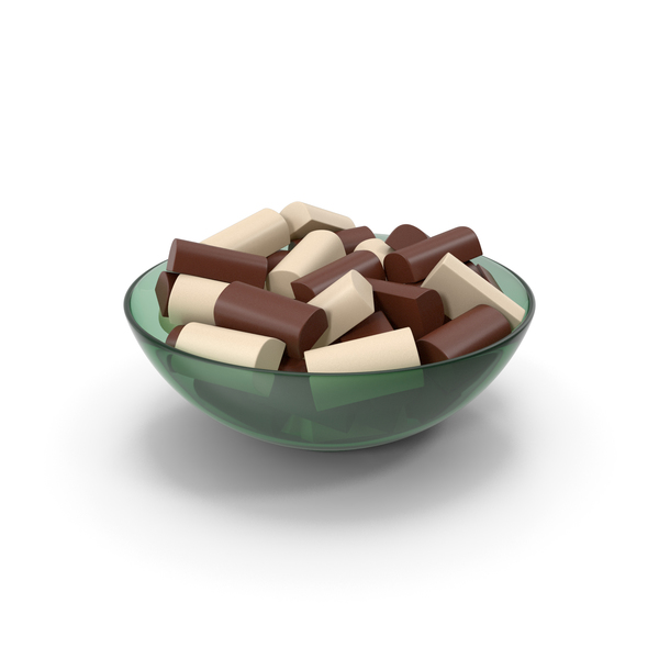 Bowl With Chocolate Bars PNG & PSD Images