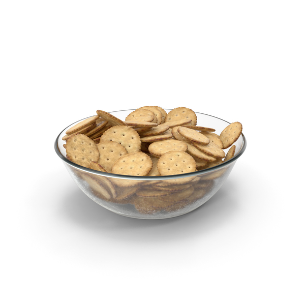 Bowl with Circular Crackers PNG & PSD Images
