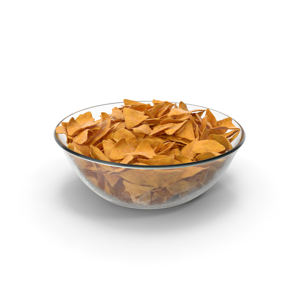 Bowl with Corn Tortilla Nacho Chips PNG & PSD Images