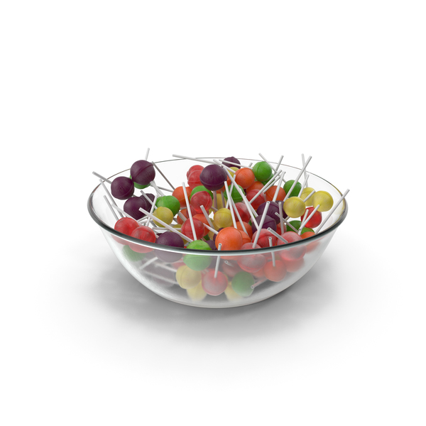 Hard Candy: Bowl With Lollipops PNG & PSD Images