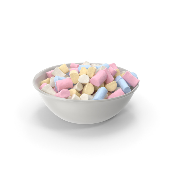 Bowl with Marshmallows PNG & PSD Images