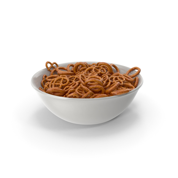 Bowl with Mini Pretzels PNG & PSD Images