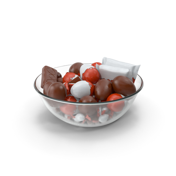 Candy: Bowl with Mixed Chocolate Candies PNG & PSD Images