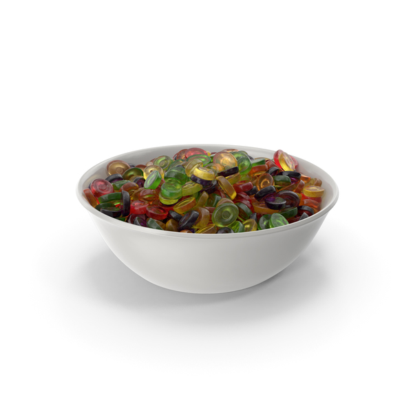 Bowl With Oval Hard Candy PNG & PSD Images