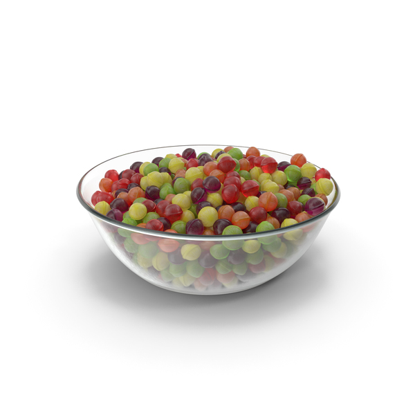 Bowl with Spherical Hard Candy PNG & PSD Images