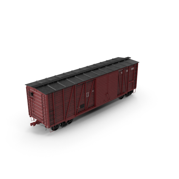 Railcar: Box Car PNG & PSD Images