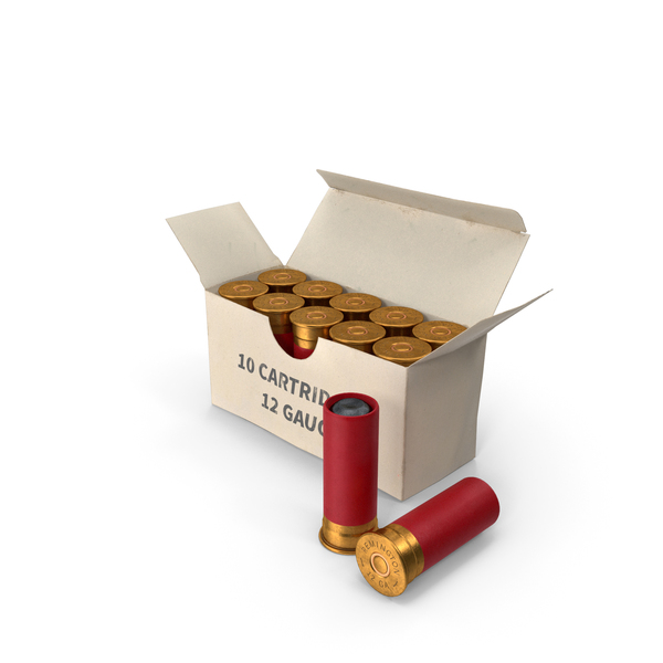 Box of 12 Gauge Shotgun Shells PNG & PSD Images