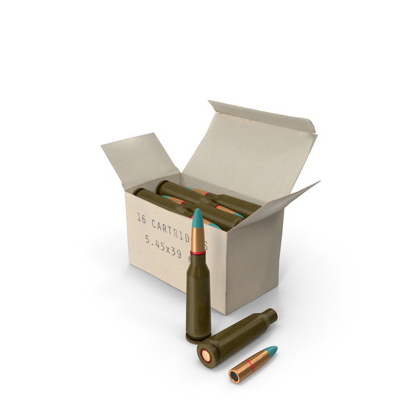 Box of 5.45×39mm Intermediate Cartridge PNG & PSD Images