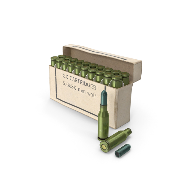 Box of 5,6х39 .220 Russian Cartridge PNG & PSD Images
