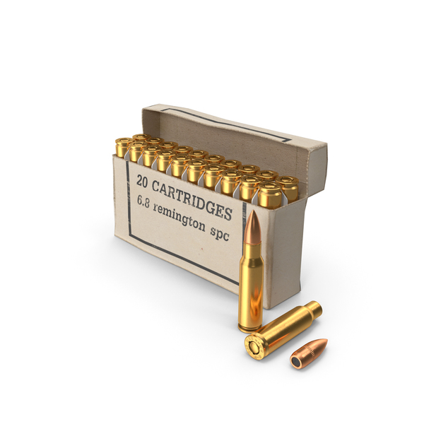 Box of 6.8mm Remington Special Purpose Cartridge PNG & PSD Images