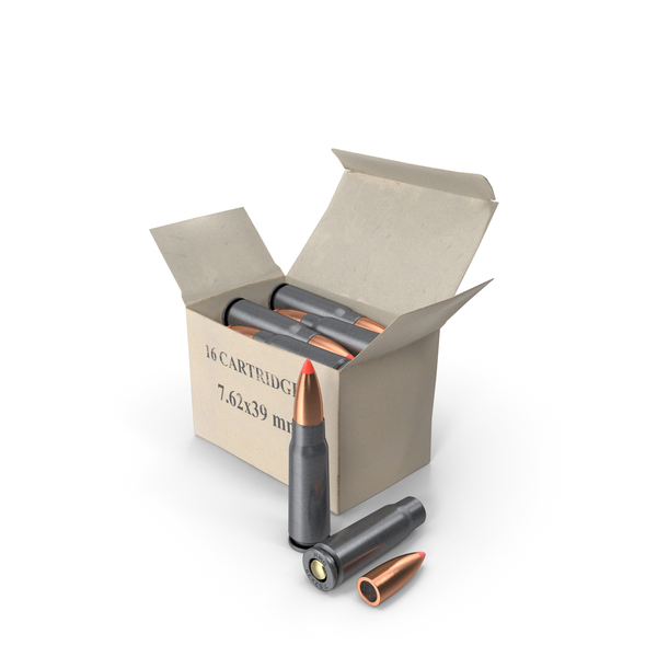 Box of 7.62×39mm Intermediate Cartridge PNG & PSD Images