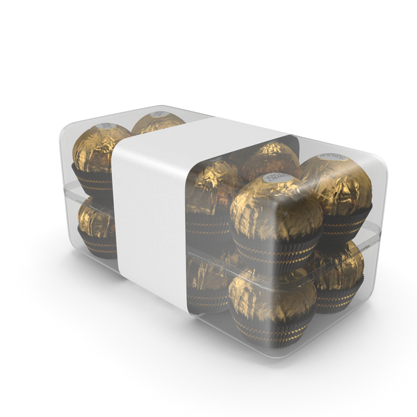 Chocolate: Box of Ferrero Rocher Chocolates PNG & PSD Images