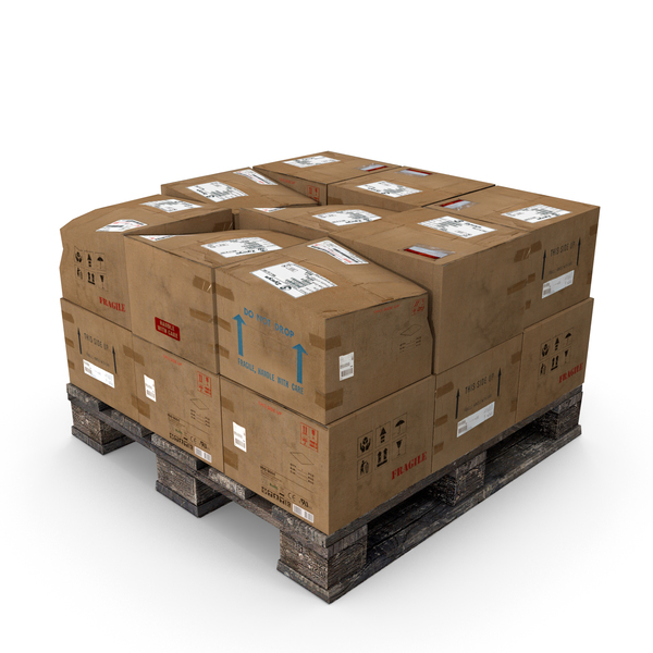 Box Pallet Stack PNG & PSD Images