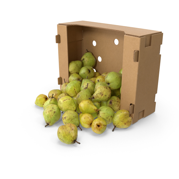 Box With Taylors Gold Pear Spilled PNG & PSD Images