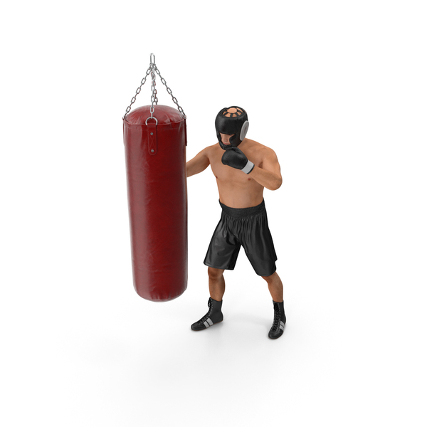 Heavy: Boxer with Punching Bag PNG & PSD Images