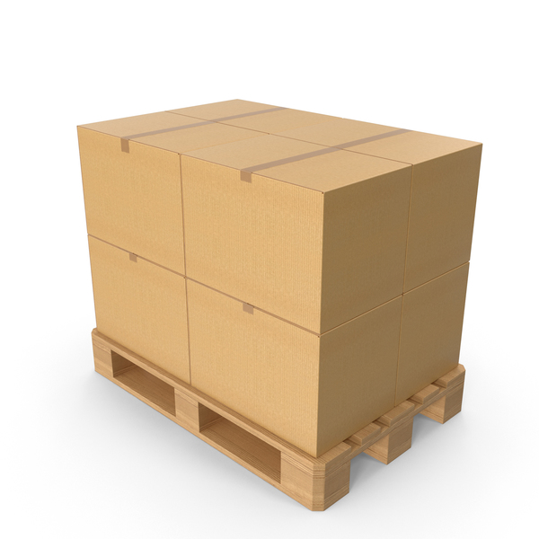 Boxes On Pallet PNG & PSD Images