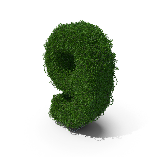 Number: Boxwood Symbol 9 PNG & PSD Images