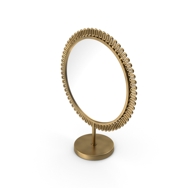 Brass Double Sided Mirror PNG & PSD Images