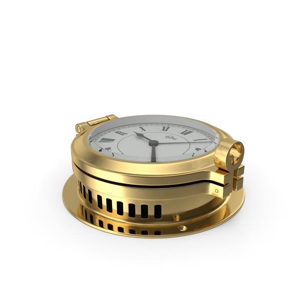 Brass Ship Clock PNG & PSD Images