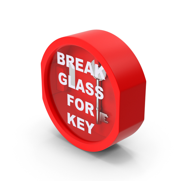 Break Glass Key Box PNG & PSD Images